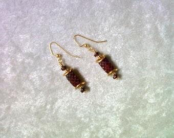Burgundy Red Earrings (1054)