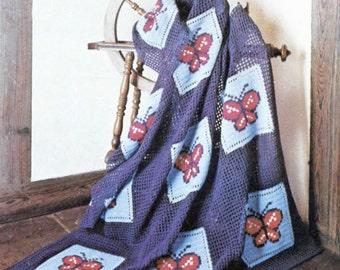 Groovy Butterfly Crochet Blanket Pattern