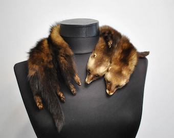 Vintage MINK FUR COLLAR , glamorous fur collar.........(072)