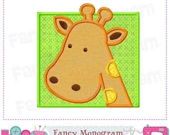Giraffe applique,Giraffe design,Giraffe embroidery,Giraffe,Animal applique,Africa design.-001