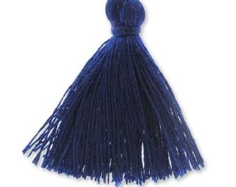 30mm Navy blue cotton tassel
