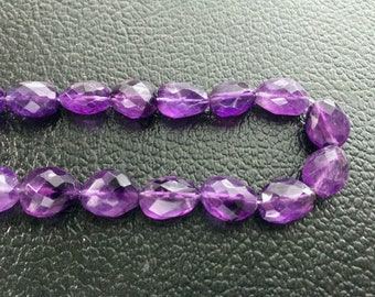 Full Strand Natural Amethyst Faceted Freeform Nugget Beads