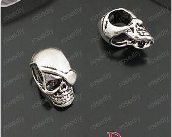 10 antique silver, 20 * 12MM alloy beads - skull E27621