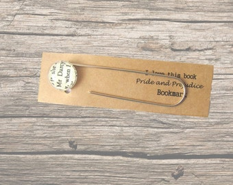 Mr Darcy bookmark. Pride and Prejudice bookmark made with a vintage copy of Jane Austen's novel. Book lover's gift, birthday gift.
