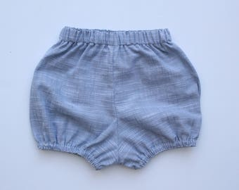 Baby Bloomers / Baby Shorts - Brushed Smoke - READY TO SHIP by Little Dreamer