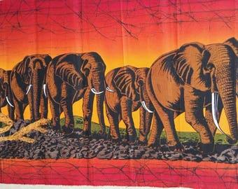 Wall hanging,Batik wall hanging,Home decor,Wall decor,elephant batik,Kenya Handmade batik,African wall hanging,hotel decor,Living room decor