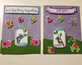 Love bug card set