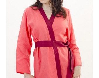 Womens Wedding Beach bridesmaid,kimono dress ,Bride Mother of the bride gift In Linen upto Plus size Gift set up to plus size