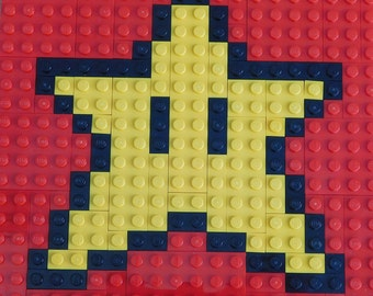 Mario Star LEGO Plate