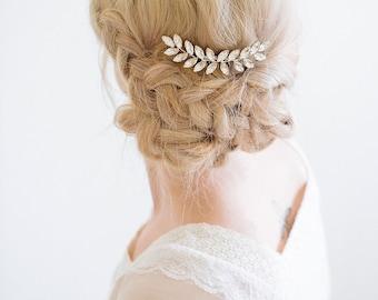 Bridal Crystal Hair Comb, Crystal Leaf Hair Comb, Crystal Hair Vine, Rhinestone Hair Comb, Gold Silver Hair Comb, Bridal Hair Accessories