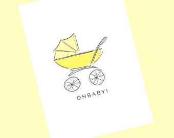 OH BABY - yellow stroller