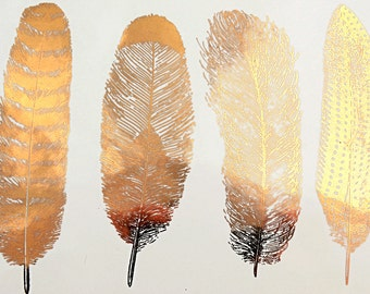 Large Feathers #1 - Ceramic Decals, Glass Decals or Enamel Decals
