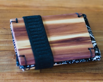 Wooden Wallet: Aromatic Cedar and requested colors.