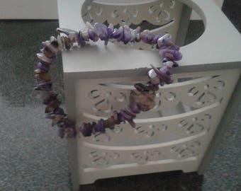 Charoite stone Stretch Bracelet