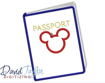Passport - Embroidery Machine Design - 4x4, 5x7 and 6x10!!!  - Applique - Instant Download - David Taylor Digitizing