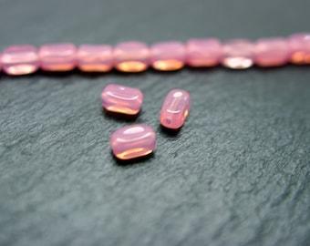 lot de 20 perles roses 6x3 mm