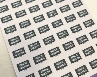 A117 - Binge Watch - Planner Stickers