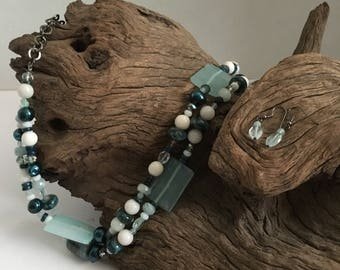 Lampwork and Gemstone Necklace