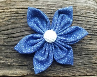 Blue dog flower, flower, dog collar flower accessory medium