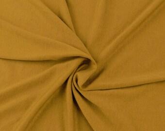 Mustard Light Medium Weight Rayon Spandex Jersey Knit Fabric by the Yard - 1 Yard Style 409