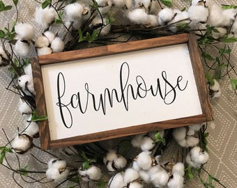 Farmhouse 14x8 MORE COLORS / hand painted / wood sign / farmhouse style / rustic