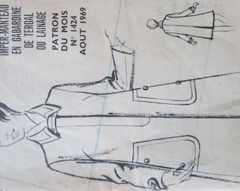 August 1969 boss raincoat in polyester gabardine and wool coat size 40 a48 for making it a nice jacket for winter outings