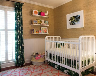 Tommy Bahama Tropical Curtains and Other Baby Crib Bedding Items