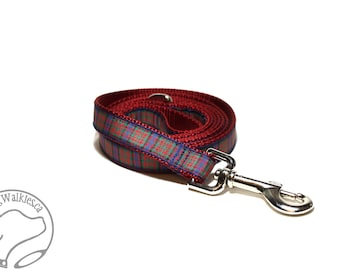 MacDonald Clan Tartan Leash // Matching Tartan Dog Leash in all widths // custom lengths // Plaid Leashes // Tartan Lead // Handmade