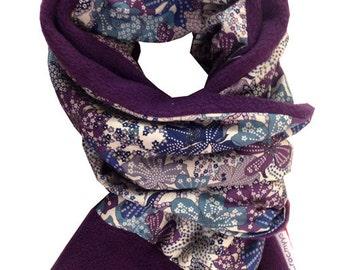 Liberty scarf mauvey purple
