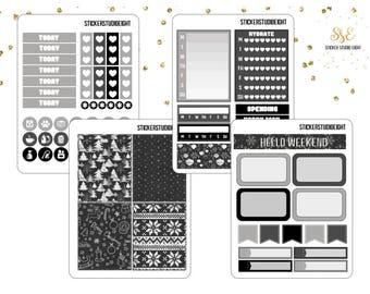 Mini Kit: Black and White Christmas