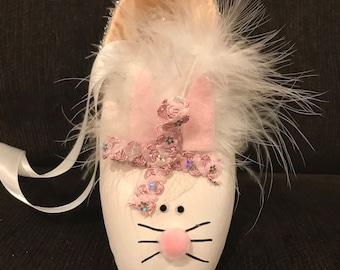 Baby bunny pointe shoe