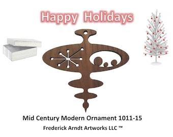 1011-15 Mid Century Modern Christmas Ornament