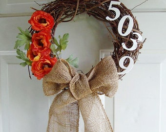 Grapevine Wreath Customized with your Street Numbers