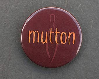 Mutton button badge