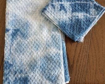 Shibori Hand and Face Towel Set
