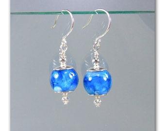 DMB -- Catalina lampwork bead earrings