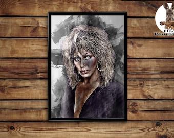 Tina Turner print Tina Turner poster wall art home decor