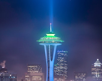 We are 12, space needle, seattle, seahawks, wall art, landscape, photography, photo, nature, photo, print,