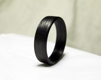 Carbon Fiber Ring - Black Band Ring
