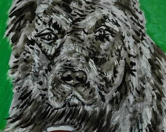25% off caucasian ovcharka coffee signed art print animals impressionism gift new dog prints 13x19
