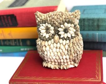 Vintage Sea Shell Owl Figure