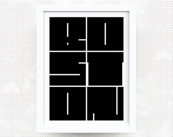 BOSTON MASSACHUSETTS City Block Print - graphic art poster name