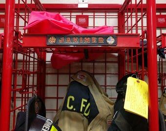 Firefighter Locker Tag
