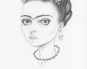 Frida , a signed Giclée art print of the artist Frida kahlo