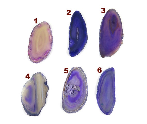 Sliced & Polished Dyed Agate Slice - Purple Tones - You Choose (1x) (NS702-D)