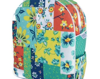 Girls Backpack, Preschool Backpack, Toddler Backpack, Flower Backpack, Tropical, Beach Bag, Quilted Backpack
