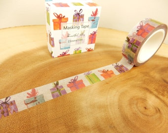 Present Washi Tape, Gift Tape, Christmas Present Decoration, Crafting Supplies, Adhesive Tape, Cardmaking Tape
