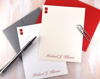 Personalized Mens Stationery Set, Masculine Stationary, Executive Gifts, Mens Stationary Set, Thank You Cards