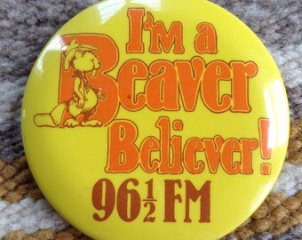 96.5 FM Beaver Believer button