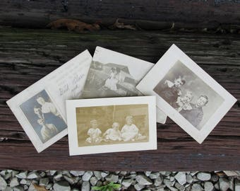 Vintage Photo Postcards Black and White Photograph Paper Ephemera Scrapbooking